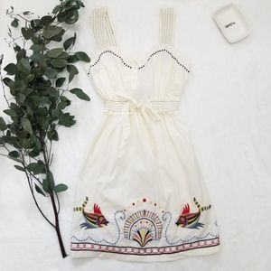 Anthropologie size S embroidery dress